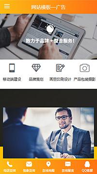 高档浅灰广告服务行业网页整站模板