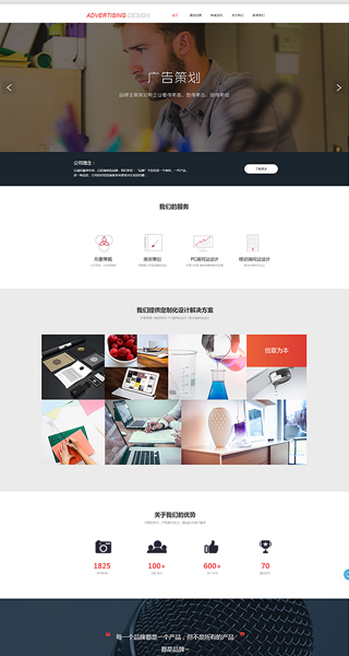 广告网站建设 制作广告网站 广告、文化、设计服务网页设计