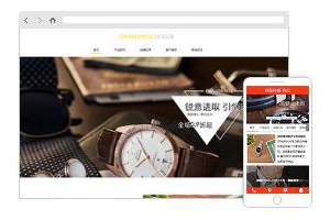 手表网站时尚高端精致大气模板