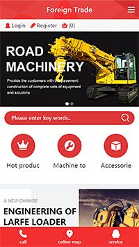 英文外贸商城手机网站模板