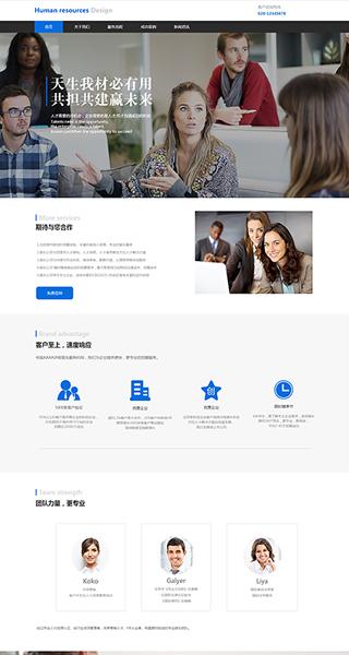 人力资源网站建设 制作人力资源网站 金融、运输、工商服务网页制作