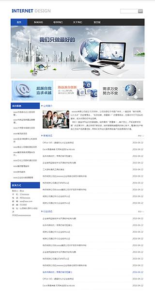 互联网网站建设 制作互联网网站 IT、软件、互联网网页设计