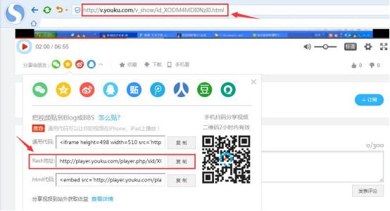 复制视频网站上的视频链接网址