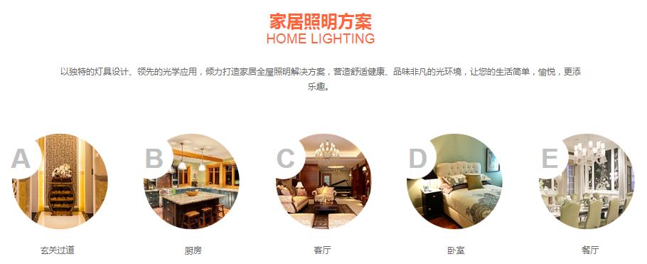 照明网站建设