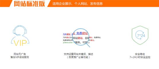 标准版网站功能介绍