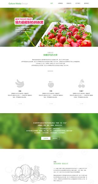 蔬果网站建设 制作蔬果网站 食品、茶饮、养生保健网页设计
