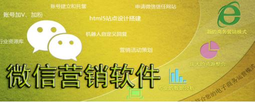 推广企业营销的微信营销软件