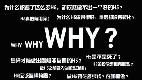 制作一个H5最需要了解什么