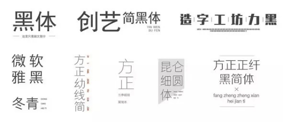 微传单字体选择类别