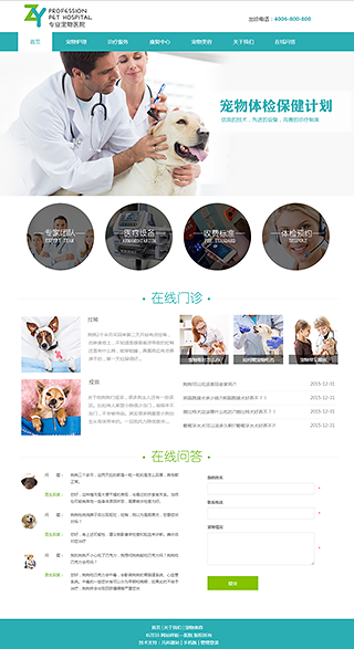 医院网站建设 制作医院网站 教育、政府、机构组织网站制作