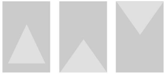 H5页面三角型排版