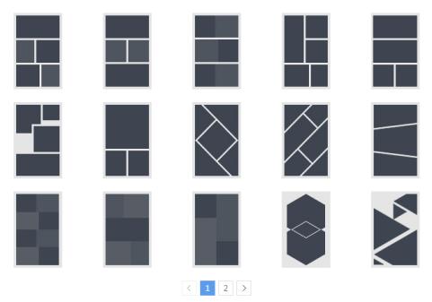 微传单拼图功能中的不同样式