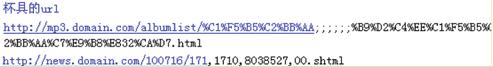 网站URL中不要加入不能被系统自动识别的字符