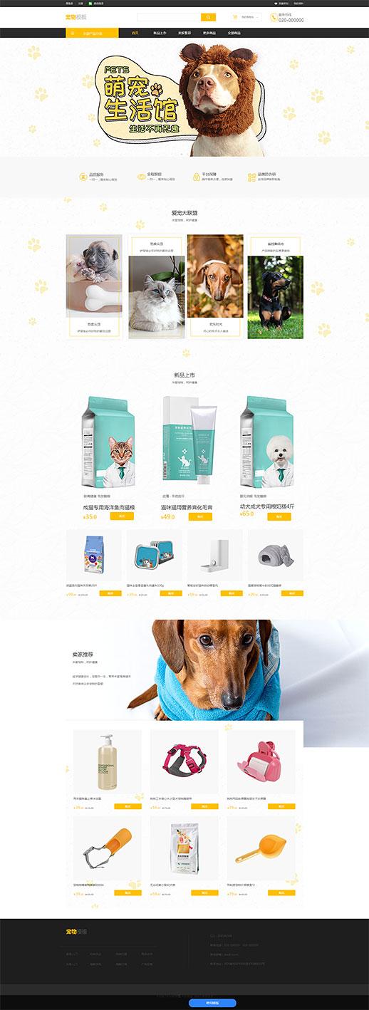 关于宠物的网站模板_宠物详情页模板