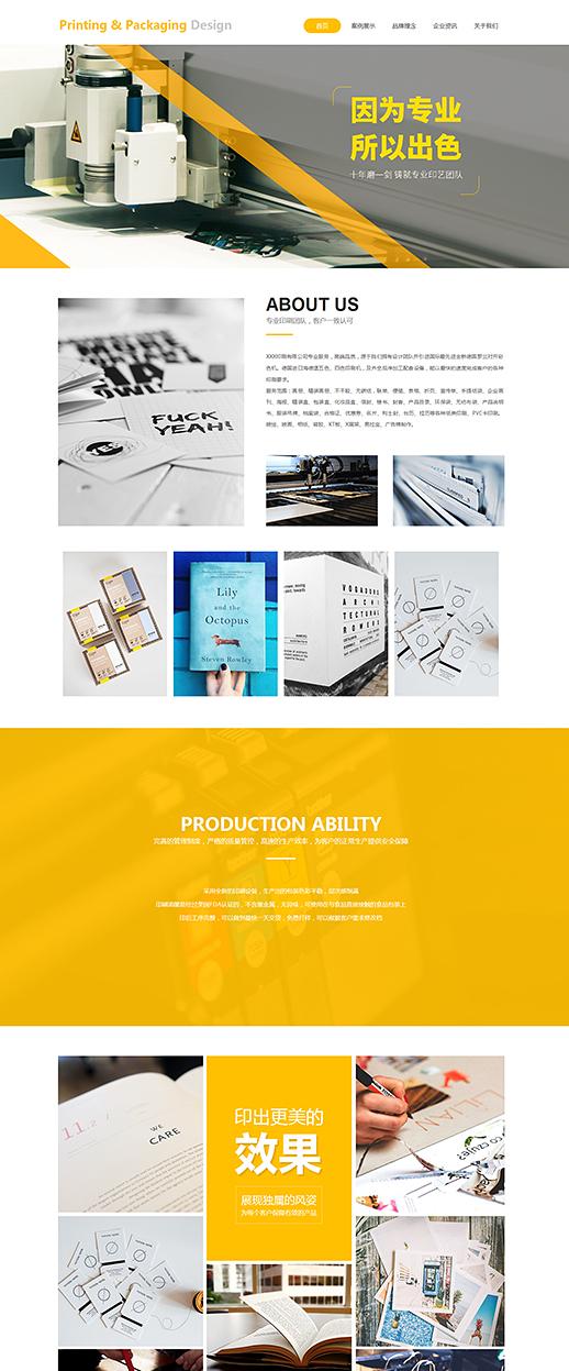 大气印刷包装图册排版