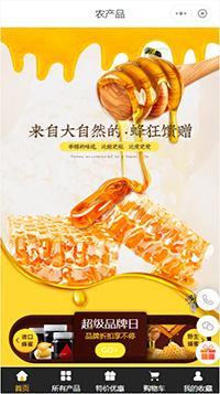 蜂蜜_土蜂蜜_网上蜂蜜专卖店小程序商城模板
